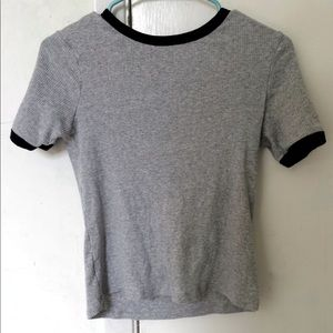 H&M ribbed short sleeve top